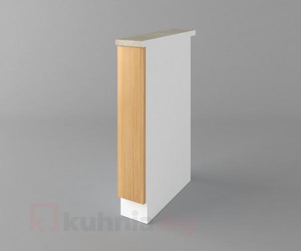 Долен кухненски шкаф с включен механизъм за бутилки Калатея - Натурална Калатея - Натурална