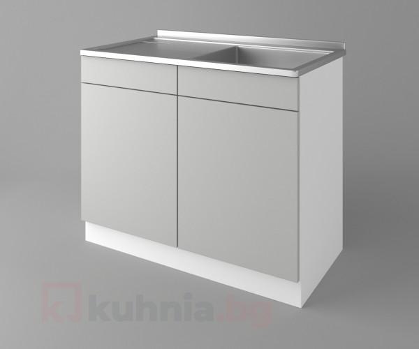 Долен кухненски шкаф с мивка - с едно работещо чекмедже Мирта