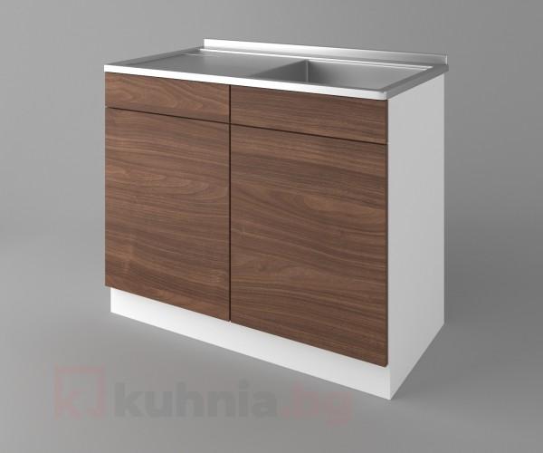 Долен кухненски шкаф с мивка - с едно работещо чекмедже Атлас