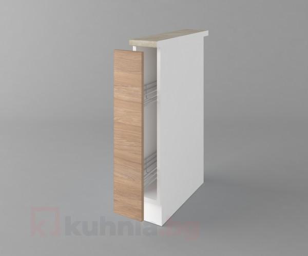 Долен кухненски шкаф с включен механизъм за бутилки Поларис