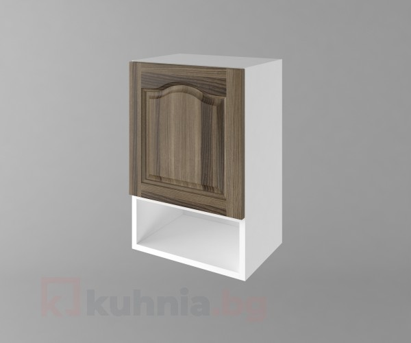 Горен кухненски шкаф с една врата и ниша Астра - Ким