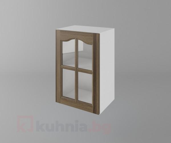Горен кухненски шкаф с една врата за стъкло Астра - Ким