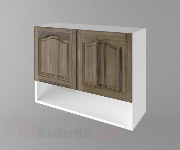 Горен кухненски шкаф с две врати и ниша Астра - Ким