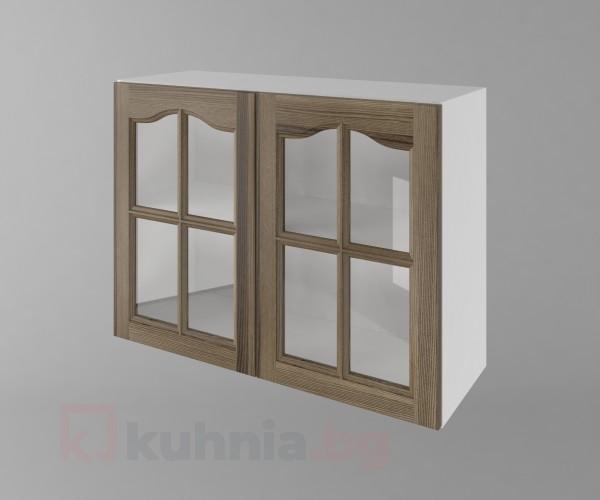 Горен кухненски шкаф с две врати за стъкло Астра - Ким