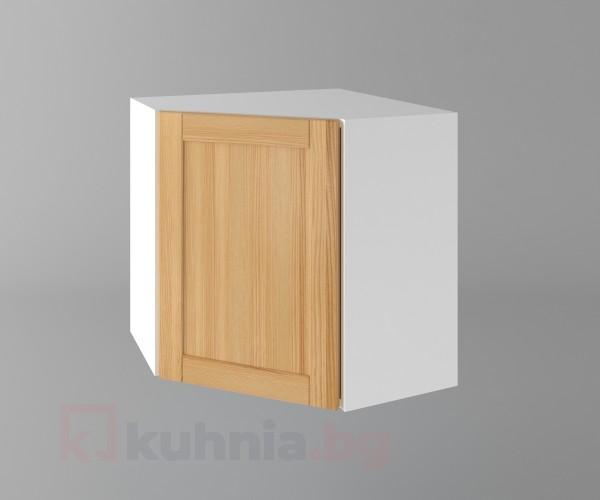Горен кухненски шкаф за вътрешен ъгъл с една врата  Калатея - Натурална