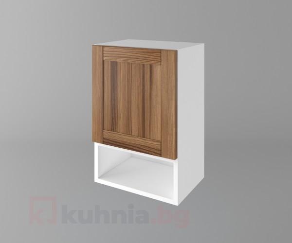 Горен кухненски шкаф с една врата и ниша Калатея - Канела