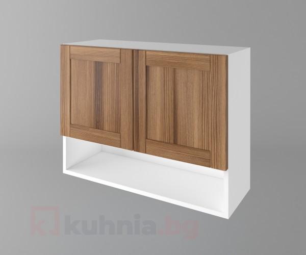 Горен кухненски шкаф с две врати и ниша Калатея - Канела