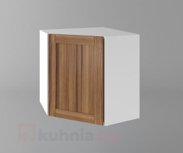 Горен кухненски шкаф за вътрешен ъгъл с една врата Калатея - Канела