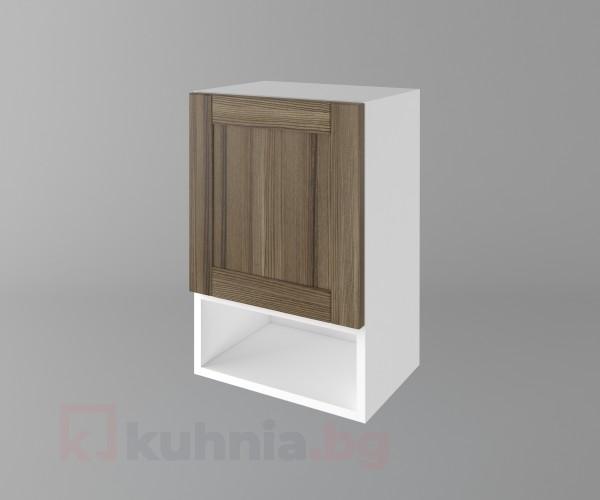 Горен кухненски шкаф с една врата и ниша Калатея - Ким