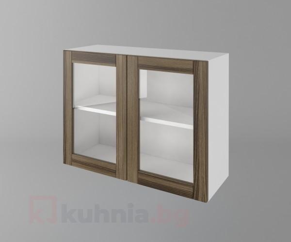 Горен кухненски шкаф с две врати за стъкло Калатея - Ким