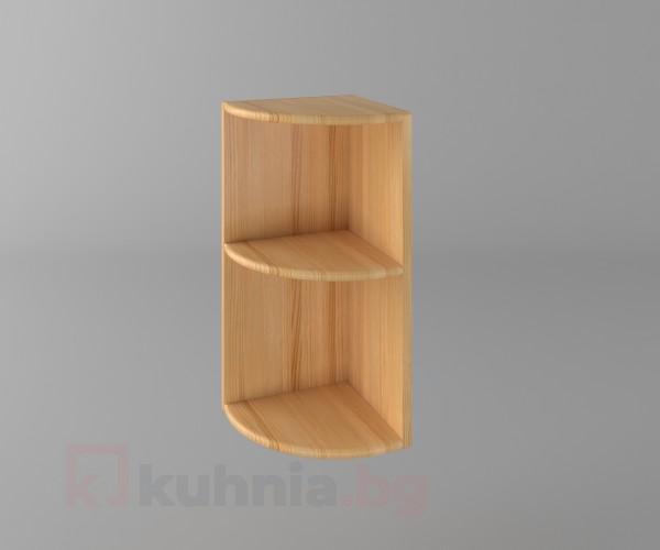 Горен кухненски шкаф за външен ъгъл Калатея - Натурална