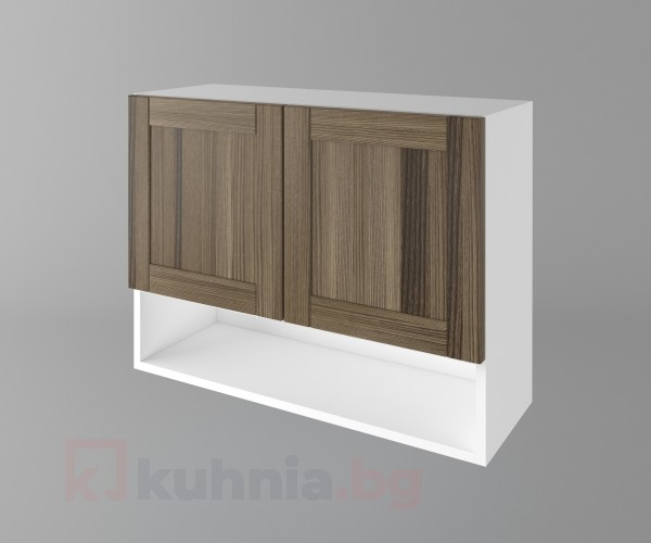 Горен кухненски шкаф с две врати и ниша Калатея - Ким