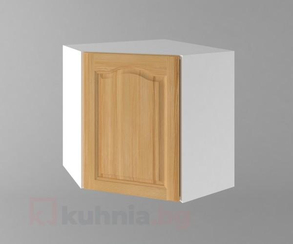 Горен кухненски шкаф за вътрешен ъгъл с една врата  Астра - Натурална