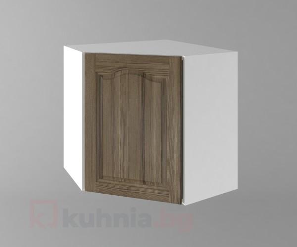 Горен кухненски шкаф за вътрешен ъгъл с една врата Астра - Ким