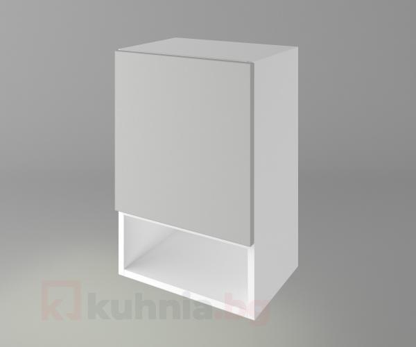 Горен кухненски шкаф с една врата и ниша Мирта
