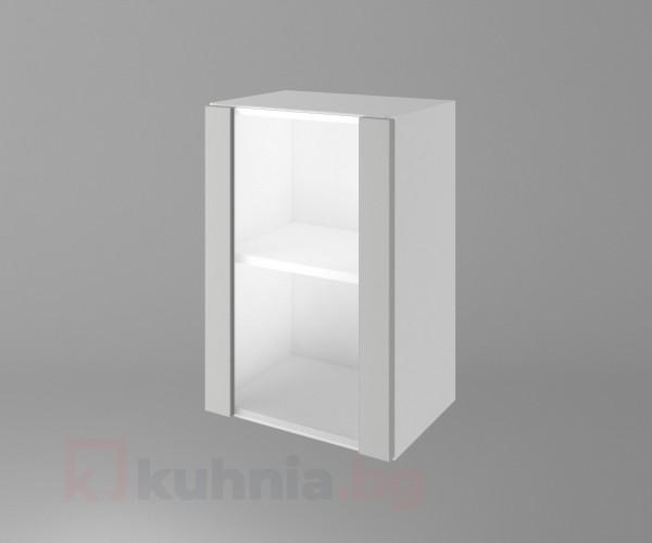 Горен кухненски шкаф с една остъклена врата Мирта