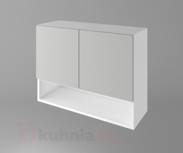 Горен кухненски шкаф с две врати и ниша Мирта