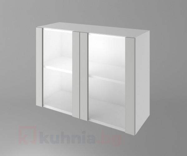 Горен кухненски шкаф с две остъклени врати Мирта