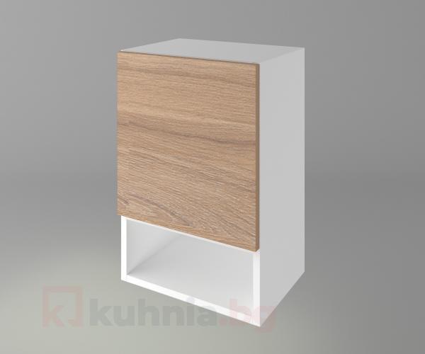 Горен кухненски шкаф с една врата и ниша Поларис