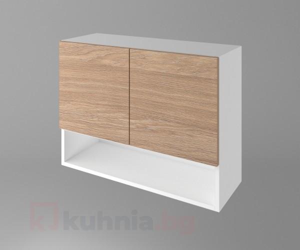Горен кухненски шкаф с две врати и ниша Поларис