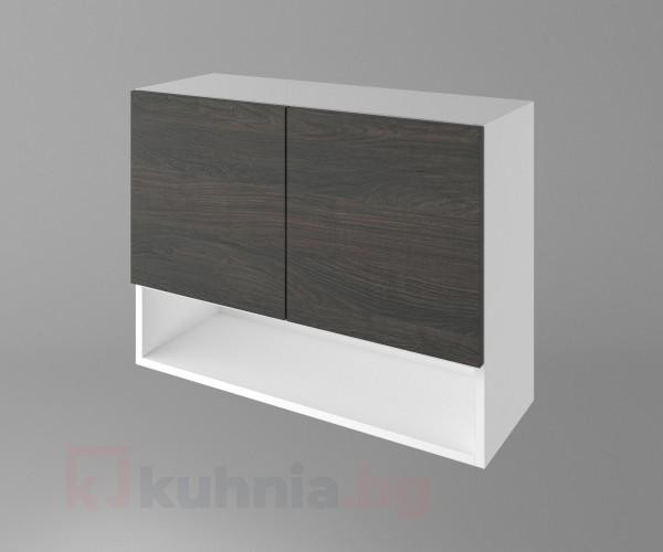 Горен кухненски шкаф с две врати и ниша Вега