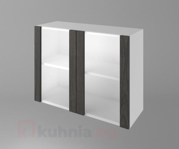 Горен кухненски шкаф с две остъклени врати Вега