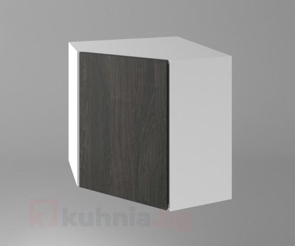 Горен кухненски шкаф за вътрешен ъгъл с една врата Вега
