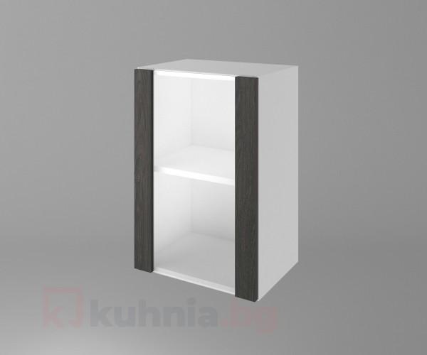 Горен кухненски шкаф с една остъклена врата Вега