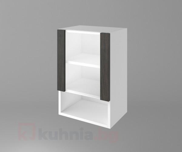 Горен кухненски шкаф с една врата със стъкло и ниша Вега