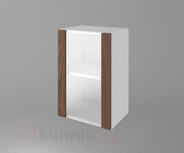 Горен кухненски шкаф с една остъклена врата Атлас