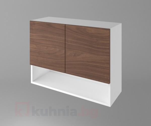 Горен кухненски шкаф с две врати и ниша Атлас