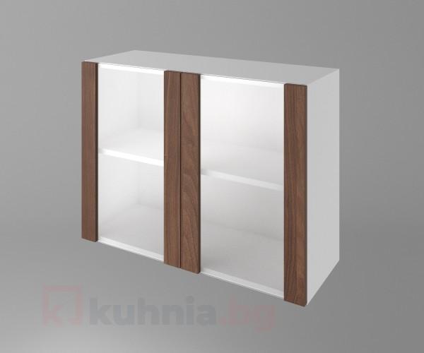 Горен кухненски шкаф с две остъклени врати Атлас