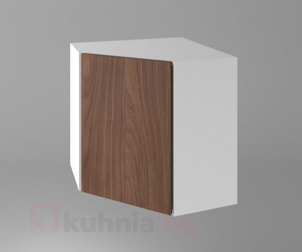 Горен кухненски шкаф за вътрешен ъгъл с една врата Атлас