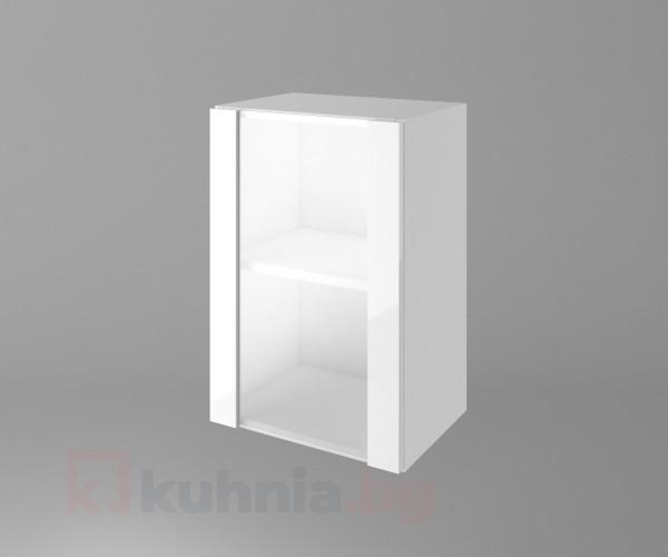 Горен кухненски шкаф с една остъклена врата Нарцис гланц