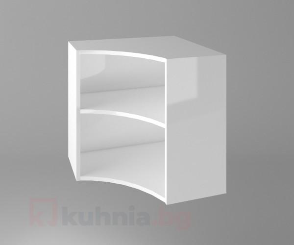 Горен кухненски шкаф за вътрешен ъгъл Нарцис - Гланц