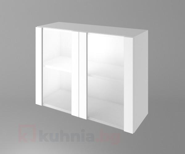 Горен кухненски шкаф с две остъклени врати Нарцис