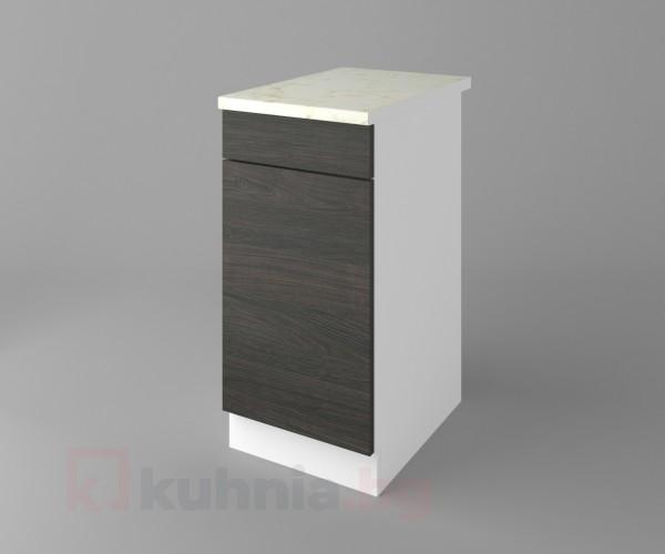 Долен кухненски шкаф с чекмедже и една врата Вега