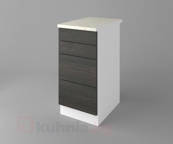 Долен кухненски шкаф с четири чекмеджета Вега