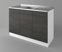 Долен кухненски шкаф с мивка - с две работещи чекмеджета Вега 1