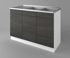 Долен кухненски шкаф с двукоритна мивка Вега 1