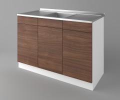 Долен кухненски шкаф с мивка - с две работещи чекмеджета Атлас 1