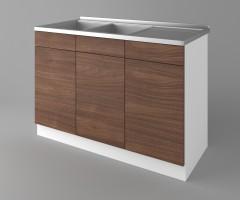 Долен кухненски шкаф с двукоритна мивка Атлас 1