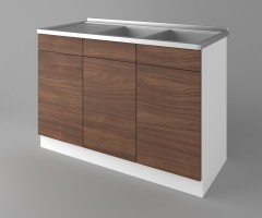 Долен кухненски шкаф с двукоритна мивка Атлас 2