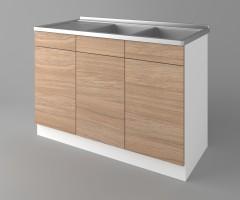 Долен кухненски шкаф с двукоритна мивка Поларис 1