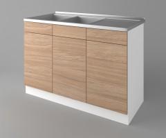 Долен кухненски шкаф с двукоритна мивка Поларис 2