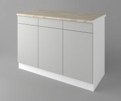 Долен кухненски шкаф с три врати и три чекмеджета Мирта 1