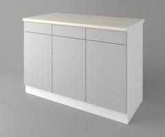 Долен кухненски шкаф с три врати и три чекмеджета Мирта 3