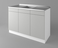Долен кухненски шкаф с мивка - с две работещи чекмеджета Мирта 1