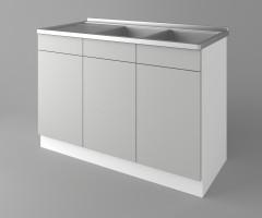 Долен кухненски шкаф с двукоритна мивка Мирта 1