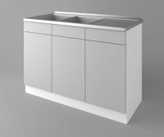 Долен кухненски шкаф с двукоритна мивка Мирта 2